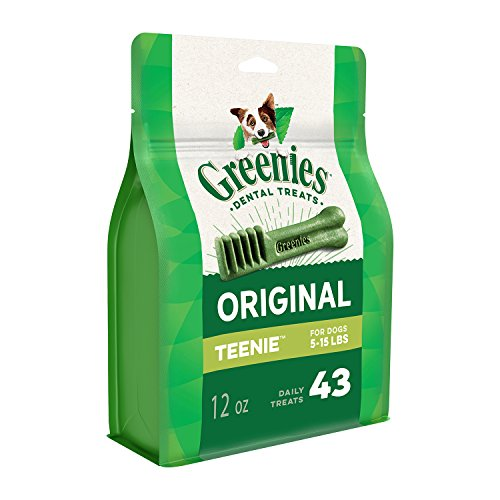 GREENIES Original TEENIE Natural Dental Dog Treats, 12 oz. Pack (43 Treats)