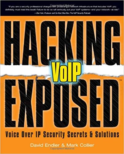 Hacking exposed voip voice over ip security secrets solutions hacking exposed voip voice over ip security secrets solutions david endler mark collier 9780072263640 amazon books fandeluxe Gallery