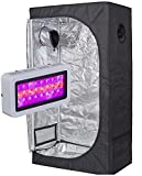 TopoLite 300W/600W/800W/1200W Full Spectrum LED Grow Light + Multiple Size Grow Tent Dark Room Indoor Hydroponic System Kit (LED 300W, 36″x20″x63″) Review