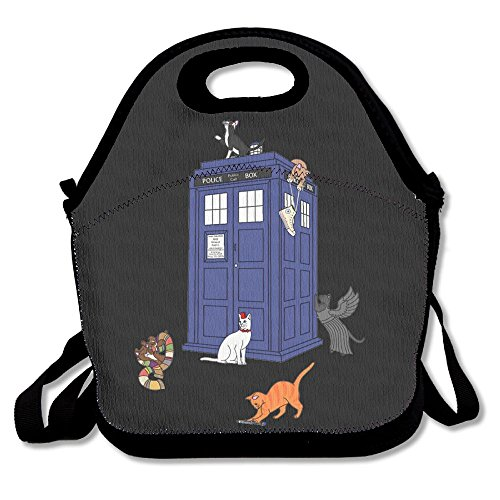Doctor Who Cats Lunch Bags Insulated Travel Picnic Lunchbox Tote Handbag With Shoulder Strap For Women Teens Girls Kids Adults]()