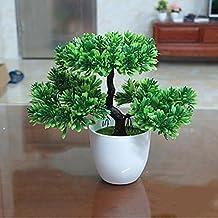 WANG&LIANG Artificial Mini Bonsai Pine Tree Plant Home Decoration , green