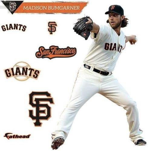 Madison Bumgarner FATHEAD San Francisco Giants MLB Vinyl Wall Graphic 17