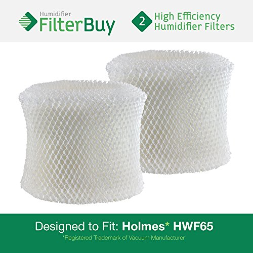2 - Holmes HWF65 & H65-C Humidifier Wick Replacement filter Filters. Designed by FilterBuy to replace Holmes Part # HWF-65.