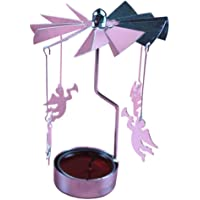Molinte Rotating Tea Angel Carousel Rotating Candle Lightweight Platform Stand Decoration 12 * 8CM