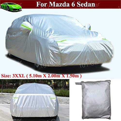Durable Waterproof/Windproof/Dustproof/Scratch Resistant Full Car Cover SUV Cover Vehicle Cover Sun Outdoor UV Protection Car Cover for Mazda 6 Sedan 2013 2014 2015 2016 2017 2018 2019