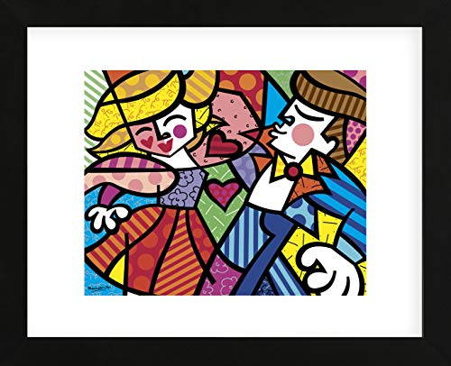 (McGaw Graphics Swing by Romero Britto Framed Print, Multicolor)