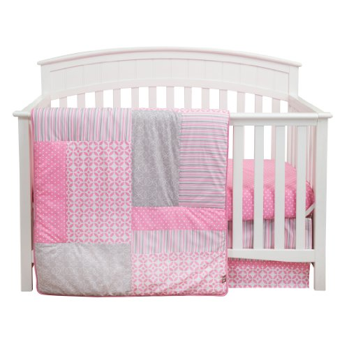 Trend Lab Pink Crib Set - Trend Lab Lily Crib Bedding Set