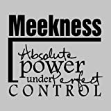 Meekness, Absolute power under perfect control....Inspirational Wall Quote Words Sayings Removable Lettering 19'' X 22''