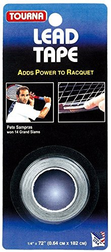 Tourna Lead Tape Tennis Racquet Racket Tape Golf Club 1/4 Inch By 72 Inch