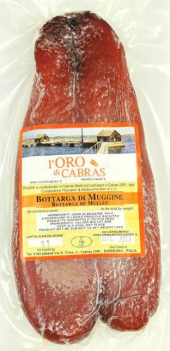 Whole Bottarga Di Muggine (Grey Mullet Roe)-Cabras, Sardinia, Italy - Approx. 3.5 oz