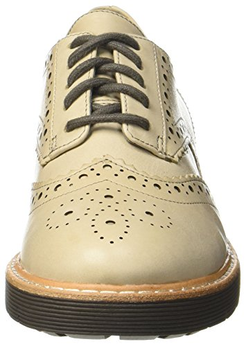 Clarks Oxford sand Leather Witcombe Beige Donna Scarpe Echo rPxtrw1qF