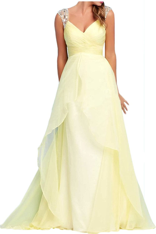 Prom Style Chick V-ausschnitt 2 Traeger Chiffon Abendkleider ...