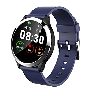 xluckx Reloj Inteligente ECG Reloj Deportivo PPG + ECG Monitor HRV Informe Prueba de Ritmo Cardíaco Presión Arterial Pulsera para Ancianos Pulsera ...