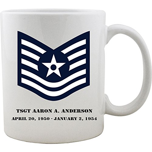 Sergeant Coffee Mug (Customizeable Air Force Tech Sergeant Rank Coffee Mug)