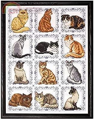 Kits de punto de cruz de algodón egipcio de 12 gatos, hilo ...