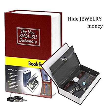 Amazon.com: Book Safe Box Lock Vault Water Fire Proof Home ... on home gun safe, home security fireproof box, home safes for the good, home tax safe, home china, home safes fireproof waterproof, opening sentry safe, home furniture safe, home safe keys, home safe bracelet, home fire safe, home safe with combination lock, home safe box, home safes manufacturers, home safes cheap, home safes consumer reports, home safes digital, home office safe, home safes bolt to floor, security safe,