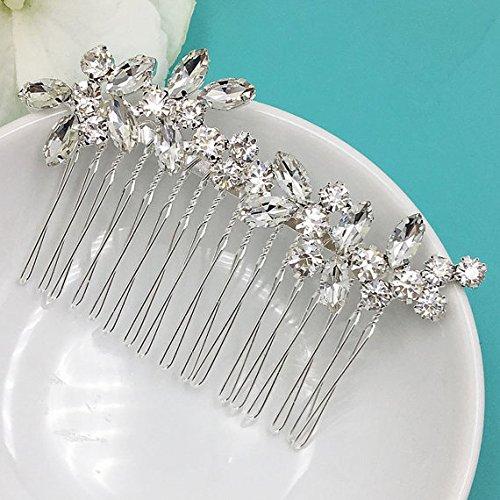Addison Crystal Rhinestone Marquise Wedding Hair Comb