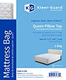 Kleer-Guard Extra Deep Queen Pillow Top Mattress Bag 60''x17''x99'', 2 MIL. For temporary moving or storage.