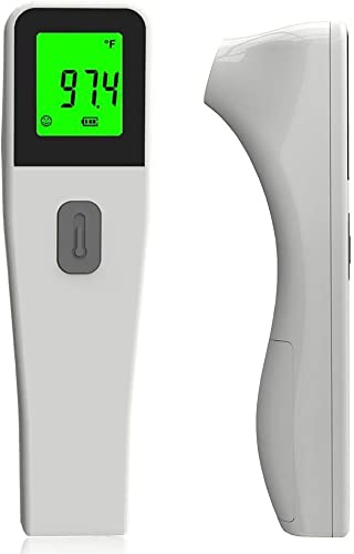 Non-Contact Infrared Digital LCD Temperature Sensor Laser Forehead Measures Body Temperature Without Battery