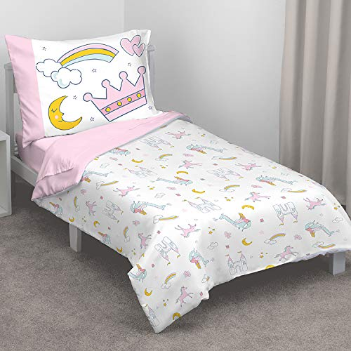 Carter's Whimsical Princess Tales 4 Piece Toddler Bed Set wi