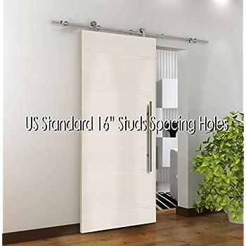 Amazon Com 78 7 Quot Modern Stainless Sliding Wood Barn Door