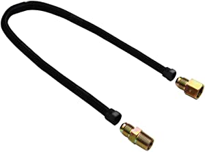 """Stanbroil 1/2"""" X 36"""" Non-Whistle Flexible Flex Gas Line Connector Kit for NG or LP Fire Pit and Fireplace"""