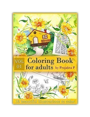 Vol 01 - Coloring book for adults, Spiral bound, easy and fun drawings to color for grown-ups