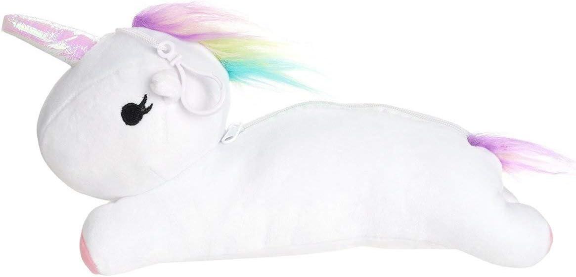 CoolChange Estuche de Peluche de Unicornio, Blanco: Amazon.es: Juguetes y juegos