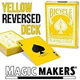 """自転車""""イエローデッキは""""トランプマジック4ガフマジックメーカー Bicycle """"The Yellow Deck"""" Playing Cards Magic 4 Gaff Magic Maker"""