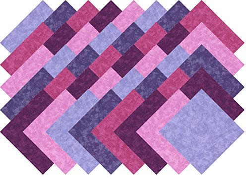 Purple Blenders Collection 40 Precut 5-inch Quilting Fabric Squares Charm Pack