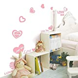 Pink Love Heart Series Wall Decal 12 x 14in