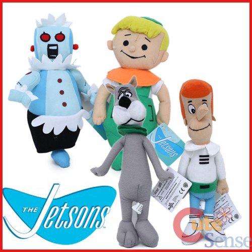The Jetsons Large Plush Set-george Elroy Astro Robot Plush ()