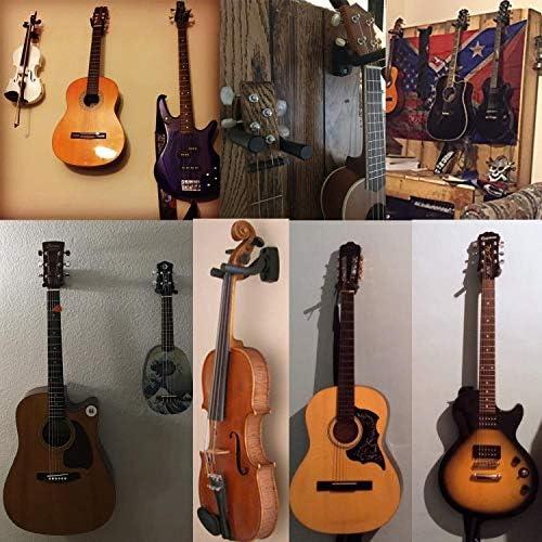 Suspensi/ón de la Guitarra Soporte de Montaje en Pared Fit sostenedor del Gancho para Bajo Ukulele Guitarra bajo Accesorios