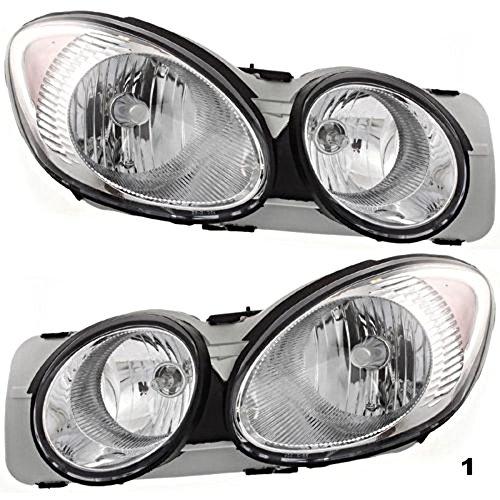 Fits 05-09 Buick LaCrosse Left & Right Headlamp Assemblies (pair)