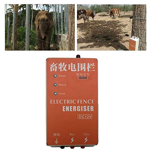 Pengxuehuang 5KM Alarm Electric Fence Energizer Charger Waterproof Anti-dust Animals Electric Fencing Controller for Farm
