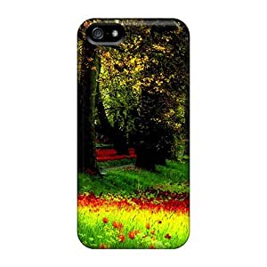 Durable Protector Case Cover With Spring Carpet Hot Design For Iphone 5/5s
