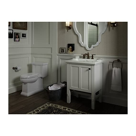 """KOHLER K-2604-1WA Tresham vanity, 24"""", Linen White - Finishes resists moisture, scratches and stains Three-way adjustable slow-close door hinges with 100-degree opening capability for easy cabinet access Includes decorative cabinet hardware - bathroom-vanities, bathroom-fixtures-hardware, bathroom - 51Bc1BL8 ZL. SS570  -"""