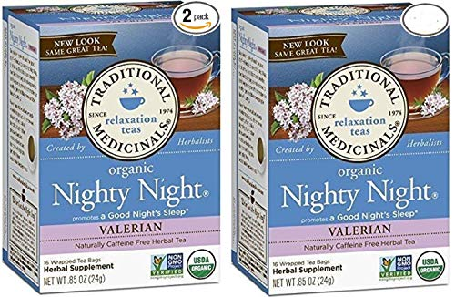 Traditional Medicinals Nighty Night Valerian Organic Tea 16/Pack (Pack of 2) ()