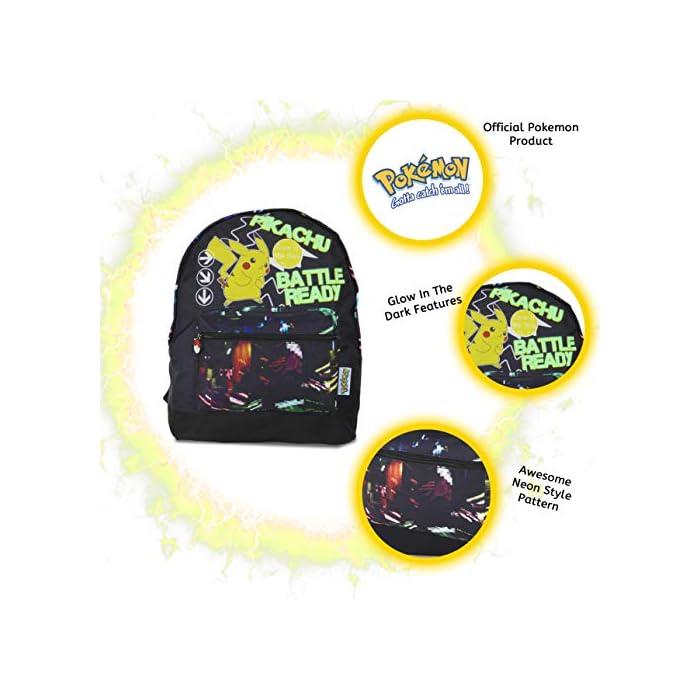 51Bc1L8iRvL ✔ MOCHILA QUE BRILLA EN LA OSCURIDAD: el regalo definitivo para los fans de Pokemon. Esta mochila Pokemon para niños es perfecta para la escuela o de viaje y cuenta con un pequeño Pikachu listo para la batalla en la parte delantera. Esta bonita mochila negra para niños con correas ajustables para mayor comodidad, un bolsillo frontal con cremallera y compartimento principal y lona de alta calidad. ✔ BOLSA CON CORDÓN QUE BRILLA EN LA OSCURIDAD: puedes comprar nuestra bolsa de natación Pokemon con cordón que brilla en la oscuridad para niños. Esta gran bolsa de natación es muy práctica para llevar todas sus cosas durante viajes, vacaciones, sesiones de juego o fiestas de pijamas, como bolsa de natación para las clases de natación o como bolsa de polietileno. También hemos incluido una sección de malla para permitir el flujo de aire, perfecto para kits de deportes húmedos. ✔ BRILLAN EN LA OSCURIDAD MOCHILAS PARA NIÑOS: haz una declaración con nuestra divertida mochila que brilla en la oscuridad y bolsa de gimnasio. Nuestras bolsas que brillan en la oscuridad absorberán la luz solar durante el día y la escritura fluorescente brillará por la noche.