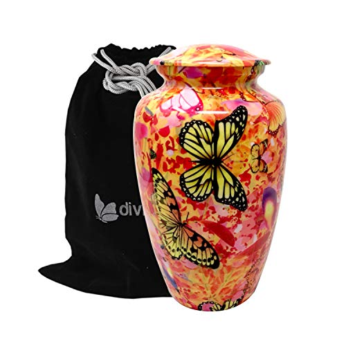 Liveurns Butterfly Camouflage Metal Cremation Urn