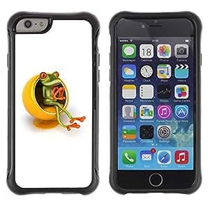 "Pulsar iFace Series Tpu silicona Carcasa Funda Case para Apple (4.7 inches!!!) iPhone 6 , Amarillo Muebles Pensador Rana Blanca"""