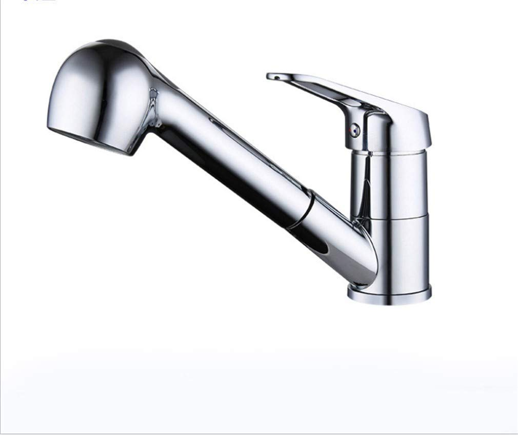 Edelstahl Einhand Wasserhähne Küche Vollkupferverlängerung Mit Duschkopf Waschbecken Wasserhahn Mit Wasserhahn.