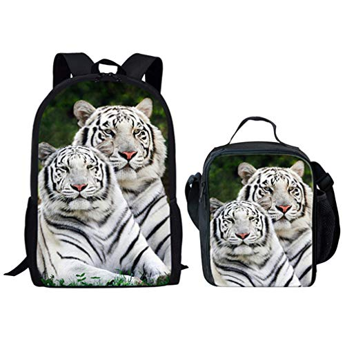 Primary FX0144CGK 2Pcs Backpack White Fx0144cg Set Animal Tiger qxqYvBgIw
