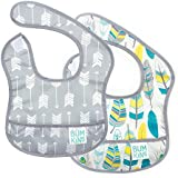 Bumkins Starter Bib, Baby Bib Infant, Waterproof, Washable, Stain and Odor Resistant, 3-9 Months, 2-Pack – Arrows & Feathers