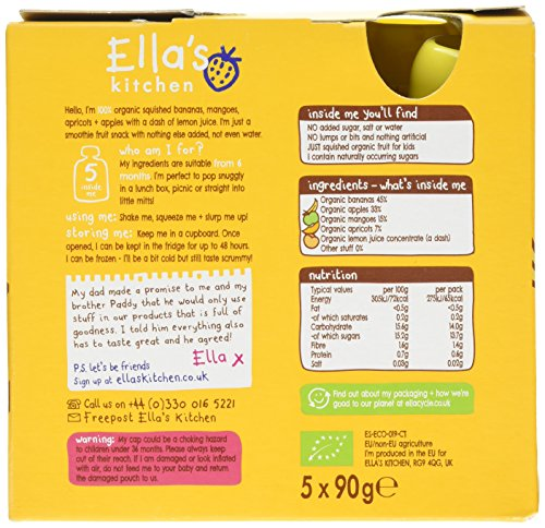 Ella's Kitchen - Smoothies - The Yellow One - 5x90g by Ella's Kitchen (Image #3)