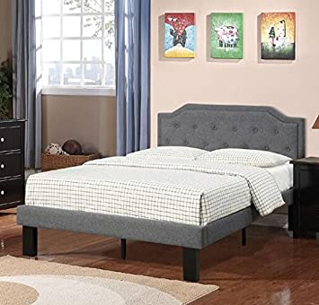 Poundex Beds, twin, Blue Grey