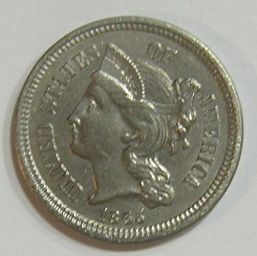 1865 P Three Cent Piece 3c About Uncirculated