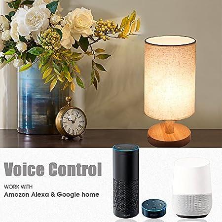MLGB Alexa WiFi Smart Wood Table Lamp