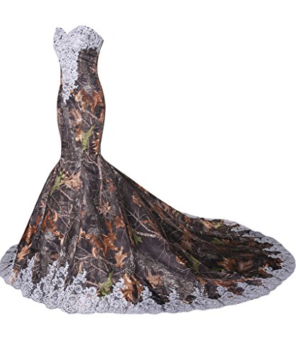 Mermaid Dress Dress White Elegant Camouflage Wedding Bridal Avril New Strapless H4gUwqOY