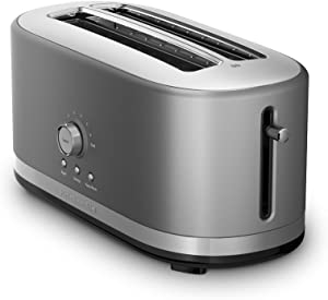 KitchenAid 4-Slice Long Slot Toaster with High Lift Lever | Contour Silver (Renewed)